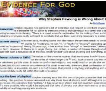 Stephen Hawking tager fejl