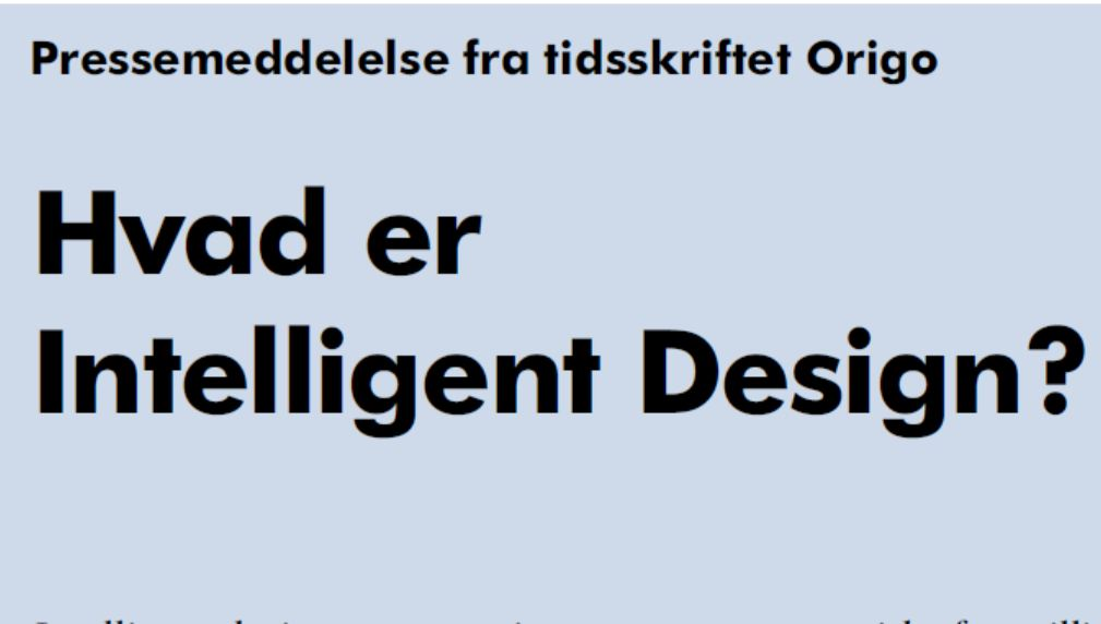 Intelligent design i medierne